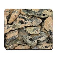 Lichen-covered rocks Mousepad