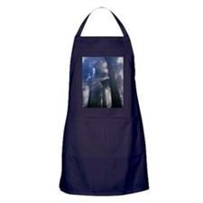 Light coming through redwood trees Apron (dark)