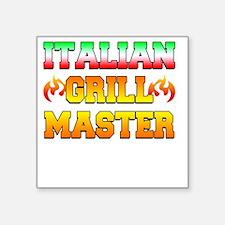 """Italian Grill Master Square Sticker 3"""" x 3"""""""