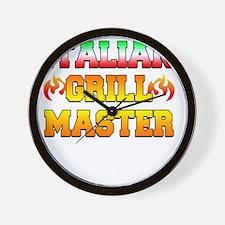 Italian Grill Master Wall Clock