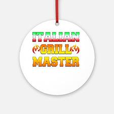 Italian Grill Master Round Ornament