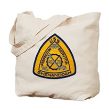 uss shenandoah patch transparent Tote Bag