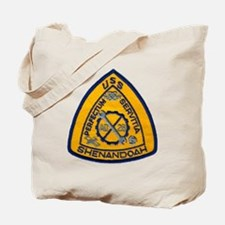 uss shenandoah patch transparent Tote Bag