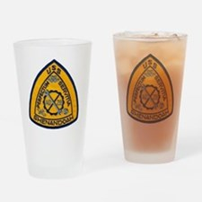 uss shenandoah patch transparent Drinking Glass