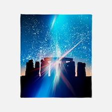 Light flares at Stonehenge, artwork Throw Blanket