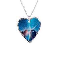 Light flares at Stonehenge, a Necklace Heart Charm
