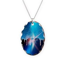 Light flares at Stonehenge, ar Necklace Oval Charm