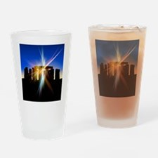 Light flares at Stonehenge, artwork Drinking Glass