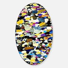 Lherzolite rock, light micrograph Decal