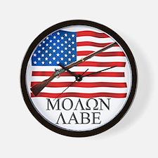 Molon Labe Musket Wall Clock