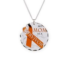 My Mom is a Survivor Necklace Circle Charm