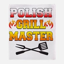 Polish Grill Master Apron Throw Blanket