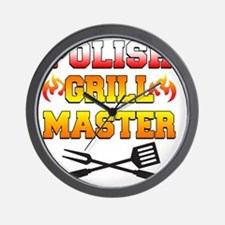 Polish Grill Master Apron Wall Clock