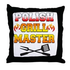Polish Grill Master Apron Throw Pillow