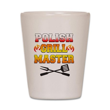 Polish Grill Master Apron Shot Glass