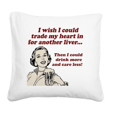 I Wish Square Canvas Pillow