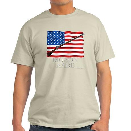 Molon Labe Musket Dark Light T-Shirt