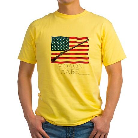 Molon Labe Musket Dark Yellow T-Shirt