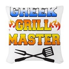 Greek Grill Master Arpon Woven Throw Pillow