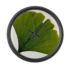 Leaf of Ginkgo biloba Large Wall Clock