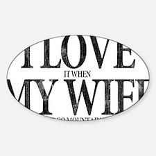 I Love My Wife Decal