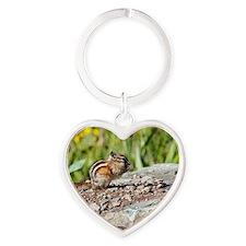 Least chipmunk Heart Keychain