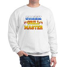 Greek Grill Master Dark Apron Sweatshirt