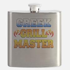 Greek Grill Master Dark Apron Flask
