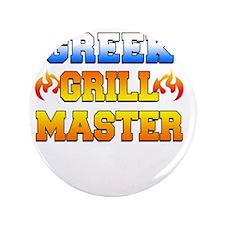 "Greek Grill Master Dark Apron 3.5"" Button"