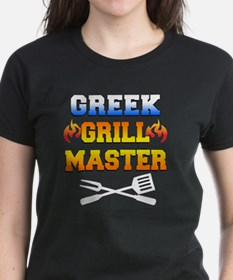 Greek Grill Master Dark Apron Tee