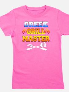 Greek Grill Master Dark Apron Girl's Tee