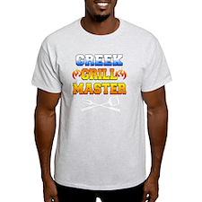 Greek Grill Master Dark Apron T-Shirt
