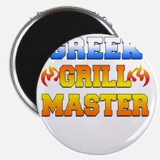 Greek Grill Master Dark Apron Magnet