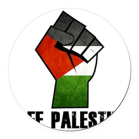 Free Palestine Round Car Magnet
