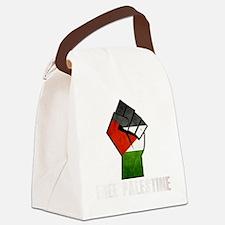 Free Palestine White Canvas Lunch Bag