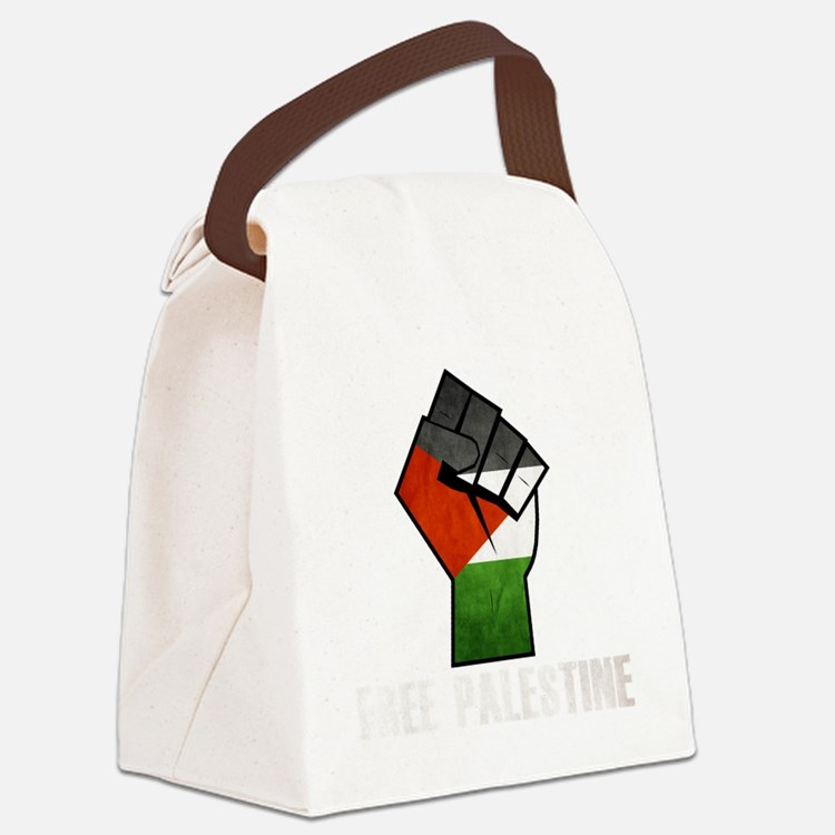 Free Palestine White Canvas Lunch Bag
