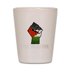 Free Palestine White Shot Glass