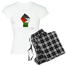 Free Palestine White Pajamas