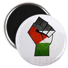Free Palestine White Magnet
