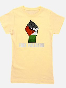 Free Palestine White Girl's Tee