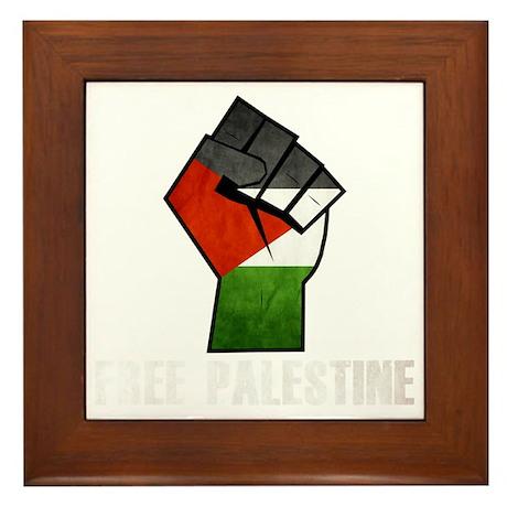 Free Palestine White Framed Tile
