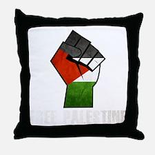 Free Palestine White Throw Pillow