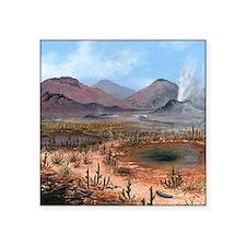 "Late Devonian landscape, ar Square Sticker 3"" x 3"""