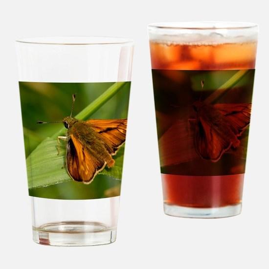 Large Skipper Butterfly Drinking Glass