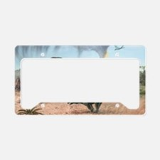 Late Cretaceous life, artwork License Plate Holder