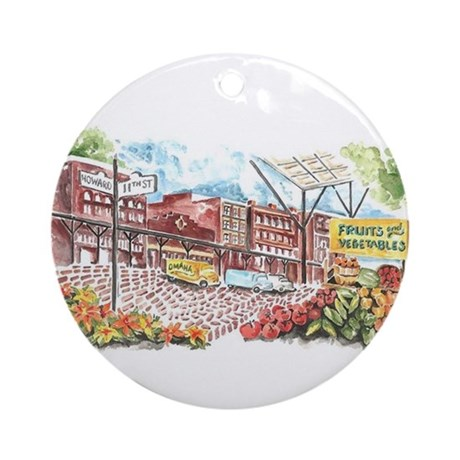 Omaha Old Market Ornament (Round)