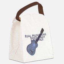 Ukulele Musician Canvas Lunch Bag