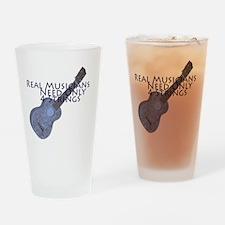 Ukulele Musician Drinking Glass
