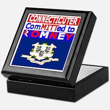 connecticutromneyflag Keepsake Box