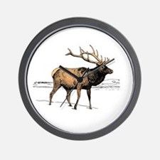 Canadian Elk Wall Clock
